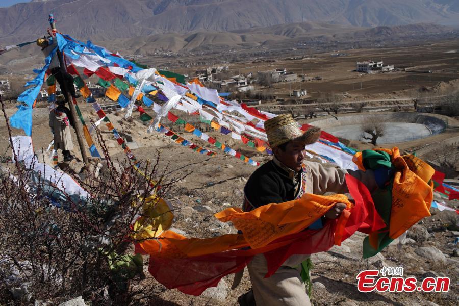 Tibetan farmers celebrate New Year one month